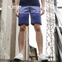 viishow夏装新款休闲短裤男 全棉修身男士潮裤 青年直筒修身裤子