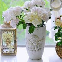 大缸花盆天使丘比特欧式绣球花盆花瓶大缸器别墅庭院景观户外草坪装饰摆件 大