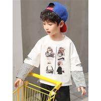 2018新款韩版儿童t恤长袖绒厚款打底衫秋冬季