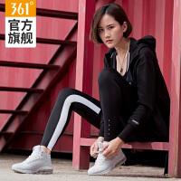 361女鞋秋季高帮跑步鞋 361度冬季女款白色气垫跑鞋防滑运动鞋女