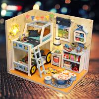 建筑制作拼装别墅礼物女生 diy小屋星辰物语手工创意房子模型
