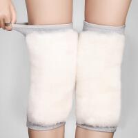 羊毛护膝保暖女士仿羊绒老寒腿秋冬季中老年男女士骑车护膝盖护腿