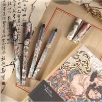 晨光速干直液式中性笔大英博物馆中性笔水浒豪杰速干水性签字笔直液式水笔ARP57507可以替换笔芯8001