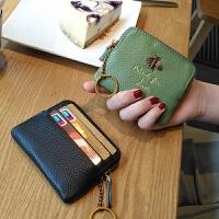 卡包零钱包一体超薄小钱包女短款简约韩国ins潮零钱袋钥匙扣可爱