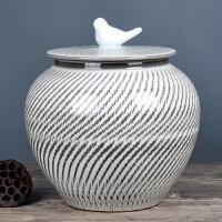 带盖米缸陶瓷米桶储米箱30斤20斤猪油罐腌菜缸茶叶罐家用