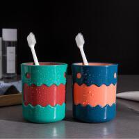 家居新款可爱小怪兽双色杯牙缸杯子家用儿童卡通水杯牙刷杯
