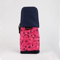 KOKUYO国誉多功能创意变形笔筒便携式笔袋文具收纳包笔盒中号六角网点粉色WSG-PC42-4当当自营