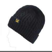 帽子男冬天加绒针织帽加厚保暖护耳毛线帽冬季户外中老年人套头帽