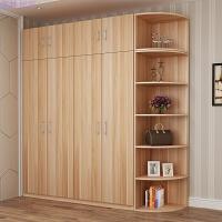 简约现代推拉大衣柜2 3 简易木质板式对开衣橱家用卧室组装