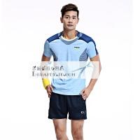 羽毛球服女款套装 短袖运动透气速干运动服 训练网球服 X