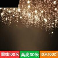 led彩灯闪灯串灯满天星户外防水铜线圣诞100米高亮霓虹摄影装饰灯