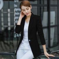 春秋职业装新款女外套韩版休闲长袖小西服修身大码女士小西装外套