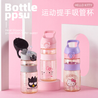 HELLO KITTY/凯蒂猫 儿童夏季吸管杯PPSU小学生白那些水壶幼儿园学饮杯大容量520ml