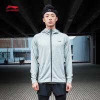 李宁卫衣男士新款训练系列开衫长袖外套连帽薄款夏季运动服AWDN369