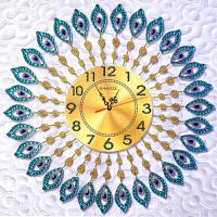 5d异形钻石画孔雀钟表点贴钻石十字绣现代简约客厅新款时钟砖石绣