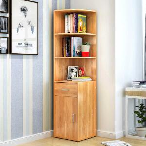 御目 书架 简易多层落地客厅转角书柜创意简约现代多功能置物收纳储物架子大容量书橱家具用品