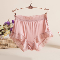 针织女内裤透气舒适薄款性感蕾丝包臀 无痕平角内裤