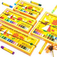 日本樱花油画棒蜡笔12色24色幼儿园儿童可水洗宝宝画笔小学生画画