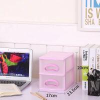 桌面塑料透明收纳盒多层抽屉式化妆品内衣收纳柜杂物文具整理箱