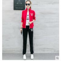 运动服套装女韩版女装初中高中学生休闲运动服装女开衫上衣长裤休闲三件套潮支持礼品卡支付
