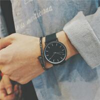 皮带男生手表韩版学生潮男防水简约时尚潮流复古非机械石英表