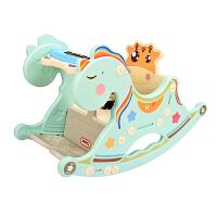 儿童摇马宝宝座椅两用摇摇马摇椅带音乐塑料玩具小木马周岁礼物