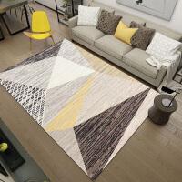 北欧现代简约几何客厅地毯 欧式沙发茶几垫家用卧室床边毯样板间SN7033 乳白色 几何-01 200*300CM【 送