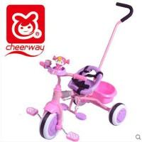祺月新款折叠儿童三轮车手推脚踏车轻便可折叠易携带婴儿三轮推车