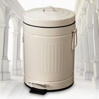 欧润哲 时尚静音缓降罗马纹脚踏垃圾桶 厨房卫生间客厅适用 大号创意家用欧式卫生桶带盖收纳桶