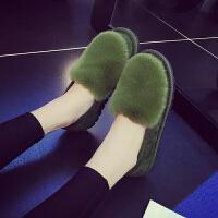 豆豆棉鞋包跟毛拖棉拖鞋女厚底冬季室内外防滑居家居加绒保暖月子 36 【偏小一码】