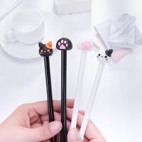 创意可爱猫咪猫爪水笔中性笔全针管黑色签字笔学生文具0.5mm