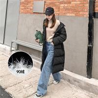七格格羽绒服学生韩版女2019新款冬季宽松中长款白鸭绒显瘦外套潮