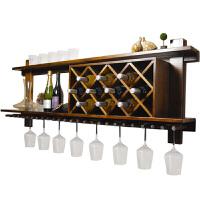 酒柜置物架壁挂悬挂吧台美式酒架壁挂装饰酒架墙上红酒实木餐厅酒架吧台壁挂红酒架