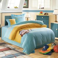家纺儿童家纺 纯棉四件套 全棉床品套件 床单被套儿童4件套床上用品
