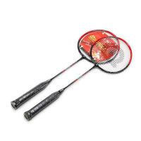 强力 铝合金羽毛球拍 情侣羽毛球拍 家庭装 2支装 强力P102