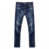 复古休闲牛仔裤男士长裤 靛蓝色 S/165