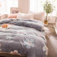 3D毛毯被子加厚珊瑚绒毯子冬季保暖床单法兰绒单人双人夏季空调毯J