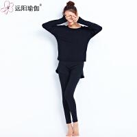 女士套装春夏新款时尚美背健身三件套运动跑步瑜珈服 XD1136CXY3-08 三件套长袖黑色+胸