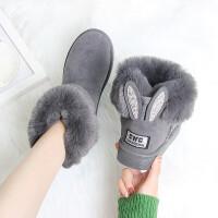 雪地靴女时尚厚底短筒学生短靴棉鞋女冬季加绒保暖