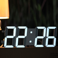 创意简约挂钟客厅万年历电子钟数字时钟钟表静音夜光挂表