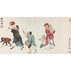 徐乐乐《村戏图》著名画家