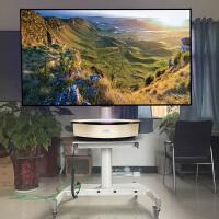 极米A1激光电视云台硬幕支架定制 坚果/极米原装短焦激光幕布单立柱支架