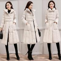 羽绒服 新品女棉衣女士中长款2018冬装新款时尚韩版修身加厚棉袄冬天外套潮