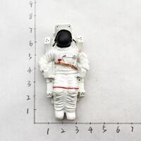 冰箱贴美国旅游纪念冰箱贴立体宇航员航天飞机磁力贴冰箱贴创意伴手礼 白色 宇航员 中