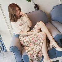 俏皮套装女两件套夏季韩版高腰时尚气质名媛小香风学生学院风百搭