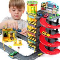停车场轨道车赛车男孩合金汽车模型3-4-5岁7儿童益智玩具生日礼物