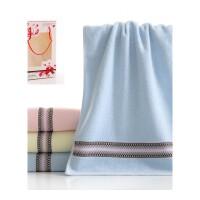 棉毛巾礼盒1条装批量生日礼品婚庆寿宴回礼绣印字团购定制logo 73x33cm