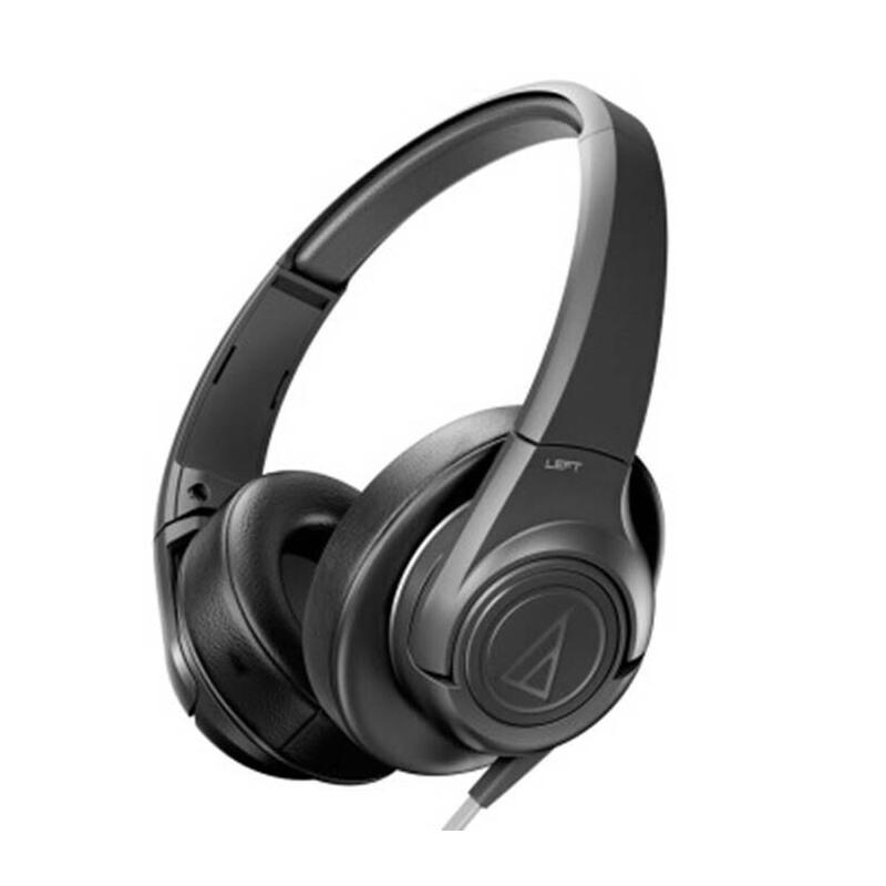 铁三角(Audio-technica)AX3  ATH-AX3  头戴式耳机  扁平导线 强力低音展现 面条线头戴式便携耳机