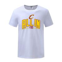 季后骑士队宽松T恤詹姆斯篮球运动球衣 男士休闲纯棉短袖