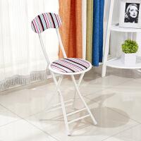 简易布艺靠背折叠椅便携户外折叠凳餐椅电脑椅子凳子家用圆凳T
